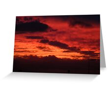 Cottesloe Sunset, red Greeting Card