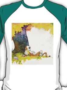 sleeping cute calvin hobbes T-Shirt