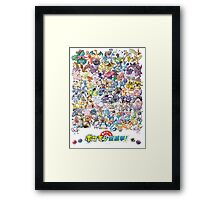 Pokedex Kanto Framed Print