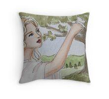 Butterfly friend Throw Pillow