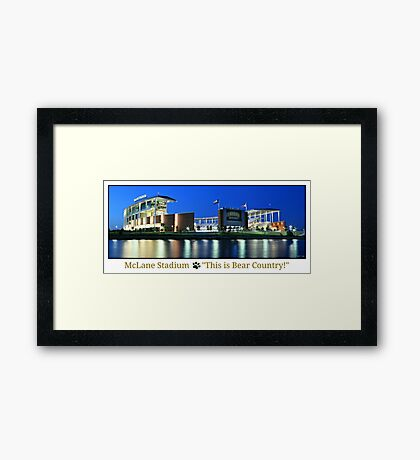 This is Bear Country Framed Print
