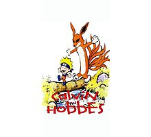 calvin and hobbes naruto funny Photographic Print