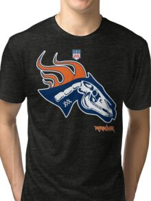 Denver Football's horse:  Pestilence Tri-blend T-Shirt