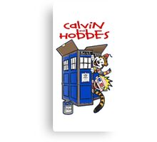 Calvin And Hobbes Tatdis dr Who Canvas Print