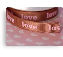Ribbon of love ... Canvas Print