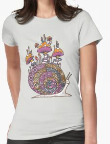Mushroom Snail Womens Fitted T-Shirt