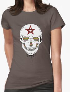 Trippy Skull Womens Fitted T-Shirt