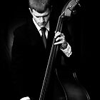 Jazz Bassist  by Amandalynn Jones
