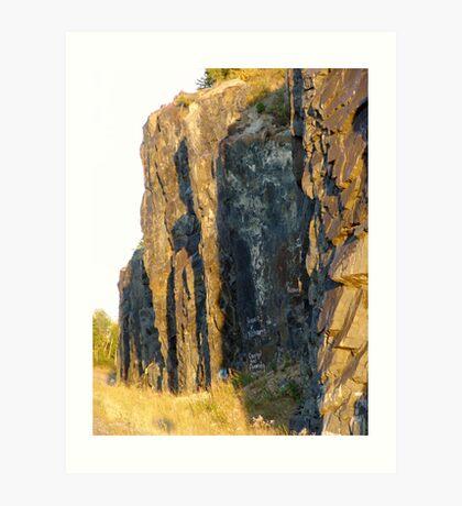 Red Rocks at Nipigon Bay Art Print
