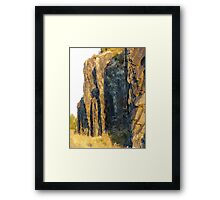 Red Rocks at Nipigon Bay Framed Print