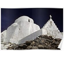 Greek church--Mykonos, Greece Poster