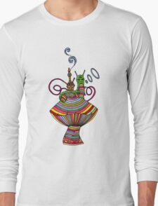 Psychedelic Caterpillar Long Sleeve T-Shirt