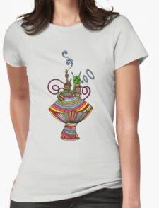 Psychedelic Caterpillar Womens Fitted T-Shirt