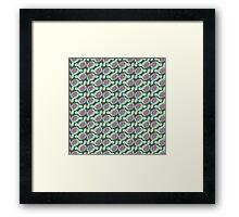 Kawaii in green. Framed Print