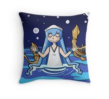 Squid Girl Throw Pillow