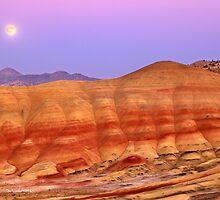 Painted Hills - Moonrise & Sunset - John Day, Oregon by Nathan Trivette