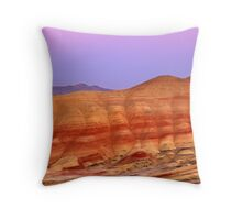 Painted Hills - Moonrise & Sunset - John Day, Oregon Throw Pillow