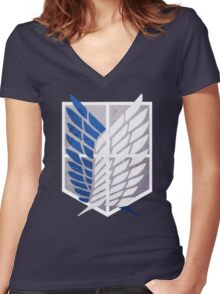 Survey Corps Women's Fitted V-Neck T-Shirt