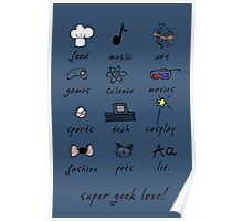 geek love! blue Poster