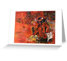 The Sand Painter Greeting Card