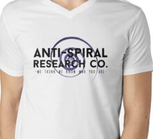 Anti-Spiral Research Company Mens V-Neck T-Shirt