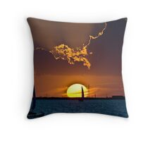 Sail in to the Sunset Throw Pillow