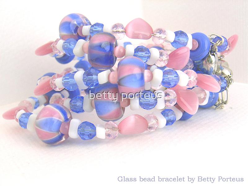 glass bead bracelet coil by betty porteus