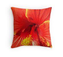 Hibiscus Haven Throw Pillow