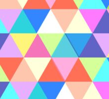 Pennsylvania State Colorful Geometric Triangles Sticker