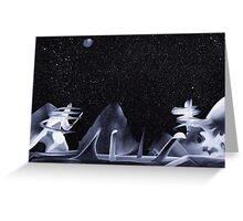 Alien Land Greeting Card