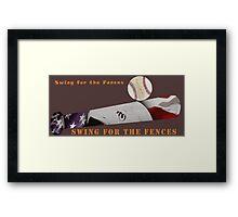 Baseball Bat Framed Print