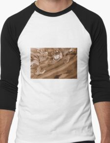 Spotty Sepia Men's Baseball ¾ T-Shirt