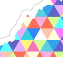 Virginia Colorful Triangles Hipster Geometric  Sticker