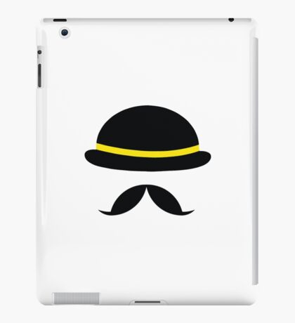 Hat and Mustache iPad Case/Skin