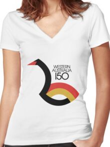 Western Australia 150 Women's Fitted V-Neck T-Shirt