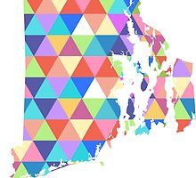 Rhode Island Colorful Triangles Hipster Geometric by CorrieJacobs