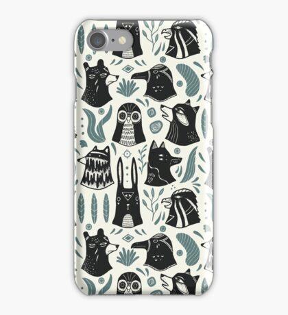 Plants & Animals Pattern iPhone Case/Skin