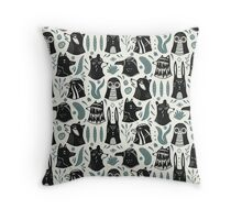 Plants & Animals Pattern Throw Pillow
