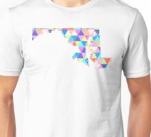 Maryland Colorful Hipster Geometric Triangles Unisex T-Shirt