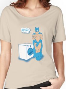 The Caped Crusader Hates Laundry Day! Women's Relaxed Fit T-Shirt