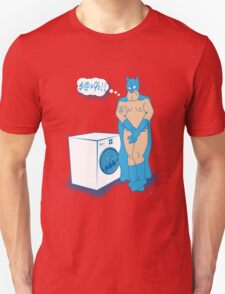 The Caped Crusader Hates Laundry Day! T-Shirt