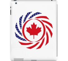 Canadian American Multinational Patriot Flag Series 1.0 iPad Case/Skin
