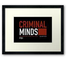 criminal minds logo Framed Print