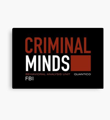 criminal minds logo Canvas Print