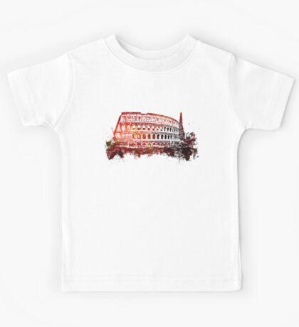 Rome, Colosseum skyline Kids Tee