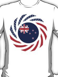 New Zealand American Multinational Patriot Flag T-Shirt