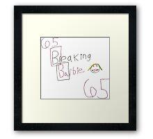 David Marder - Breaking Barbie Framed Print