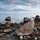 Erratics, Lake Manapouri, New Zealand by NickMonk