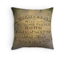 Minerva's Grave Throw Pillow