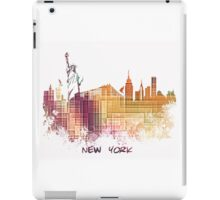 New York City skyline yellow cube iPad Case/Skin